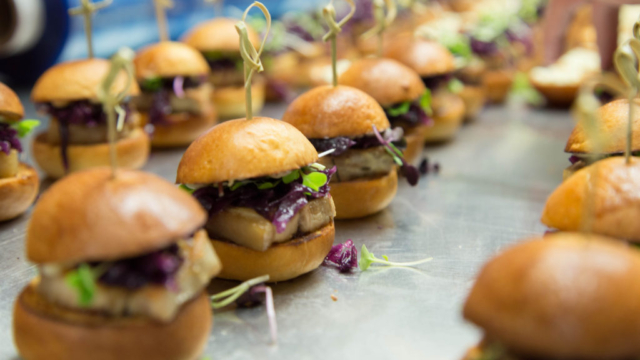 pork belly sliders food photography